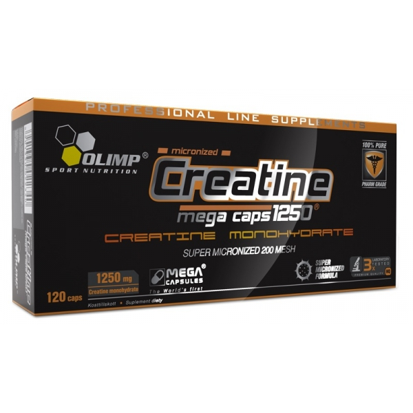 Creatine Mega Caps 1250 (Olimp), 120 капс.