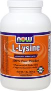 L-Lysine 100% Pure Powder (NOW), 454 г