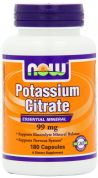 Potassium Citrate 99 mg (NOW), 180 капс