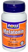 Melatonin 3 mg (NOW), 60 капс.