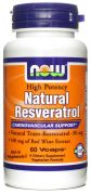 Natural Resveratrol (NOW), 60 капс.