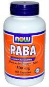 PABA 500 mg (NOW), 100 капс