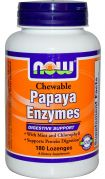Papaya Enzymes (NOW), 180 таб