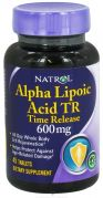 Alpha Lipoic Acid TR Time Release 600 mg (Natrol), 45 капс.